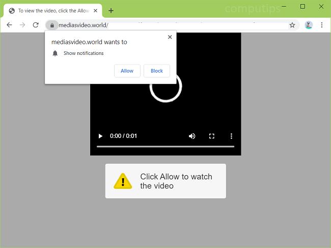 Delete https://mediasvideo.world, 0.mediasvideo.world, etc. virus notifications