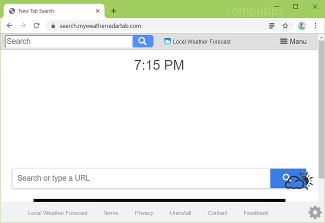 delete https://search.myweatherradartab.com virus